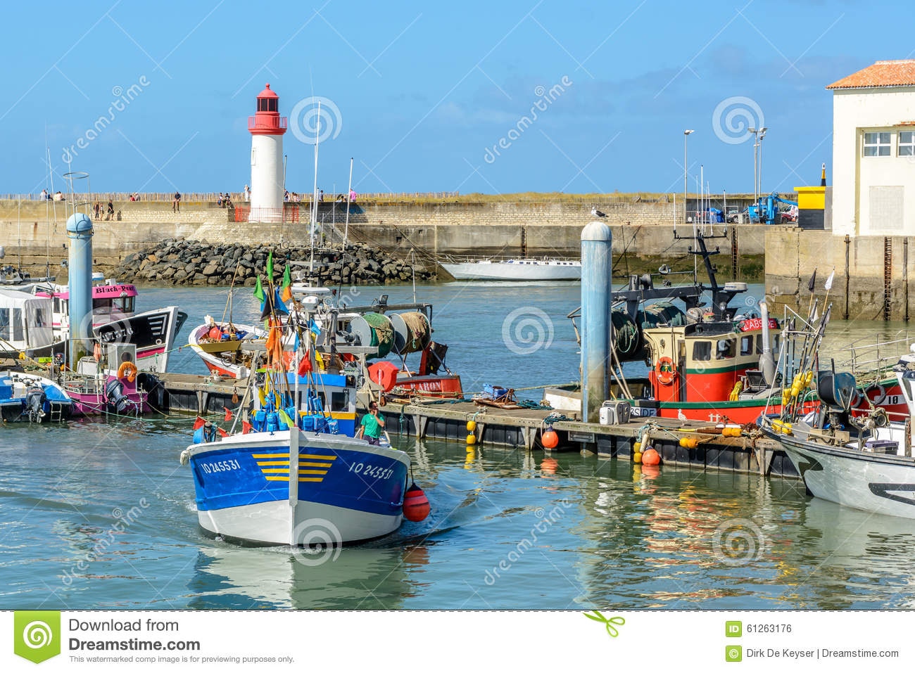 Fishing boats in La cotiniere, port on Oleron island, France