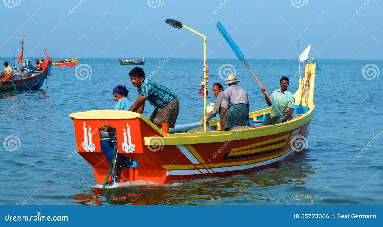 Fishing Boats At Marari Beach, Kerala, India Editorial Photo