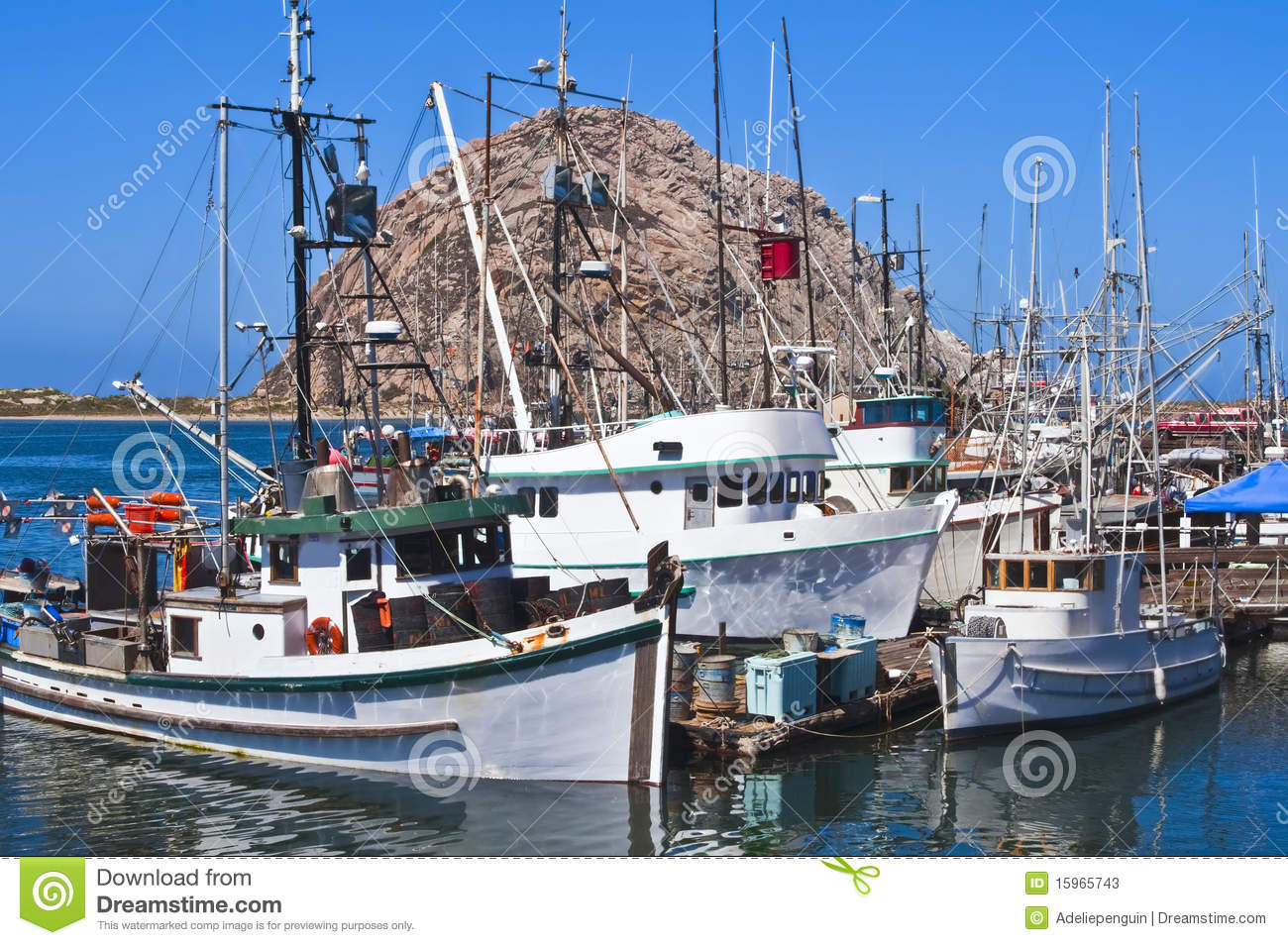 Fishing boats morro bay california stock photos image for Morro bay fishing