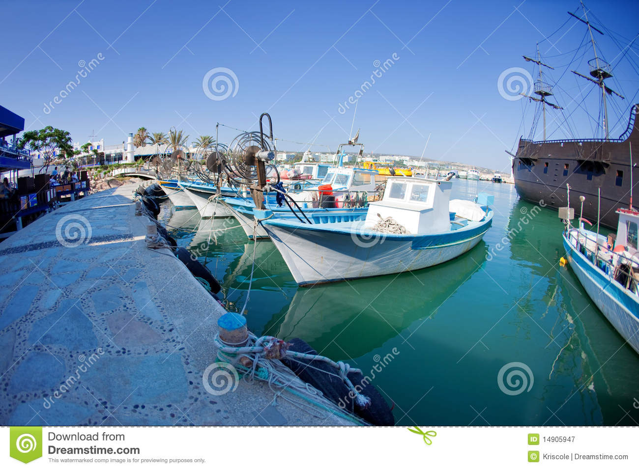 Fishing boats at a port royalty free stock photography for Port a fishing