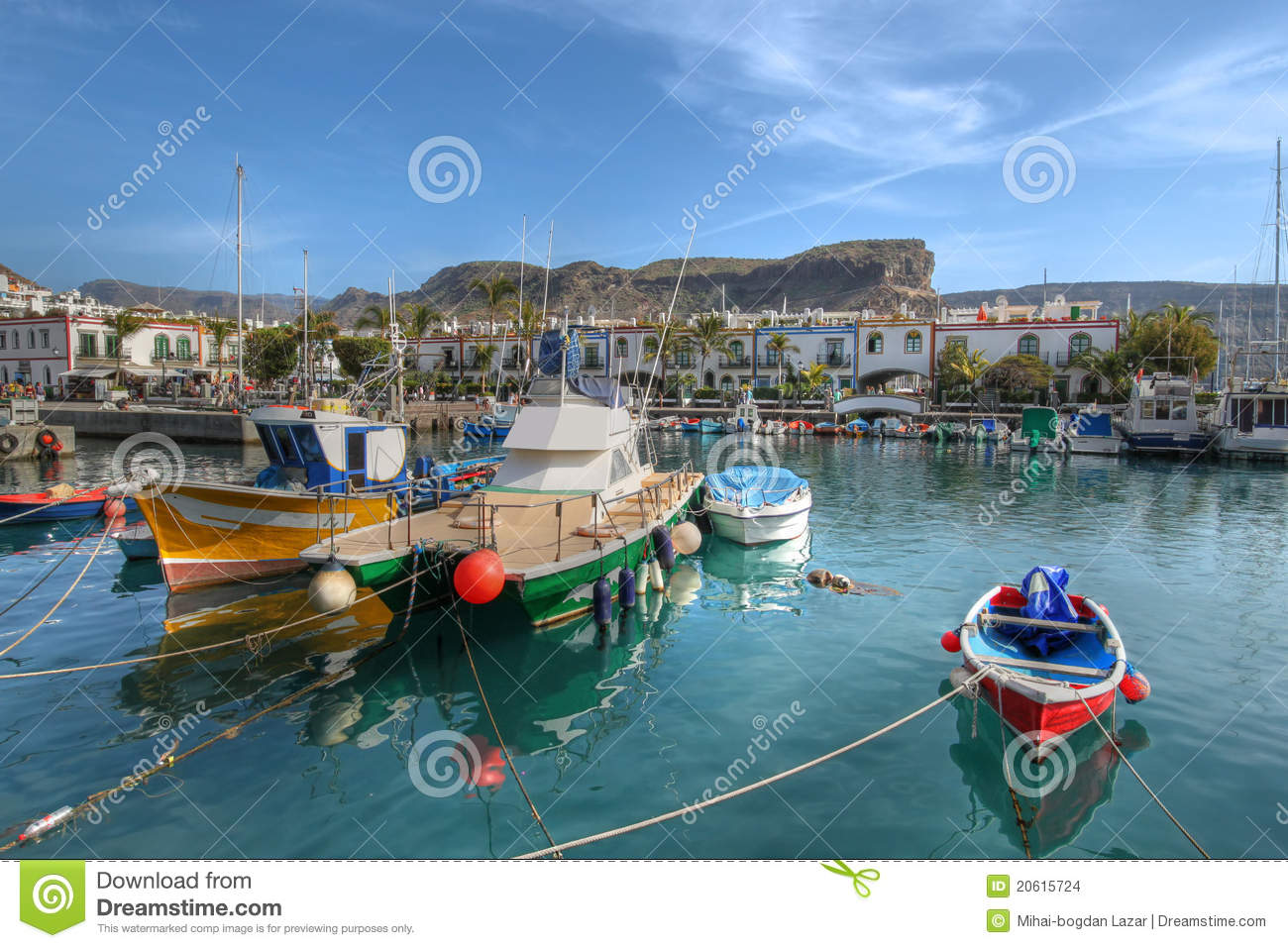 Fishing boats Puerto de Mogan Gran Canaria Spain