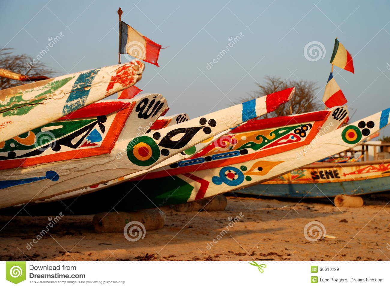 fishing boats saly senegal royalty free stock images image