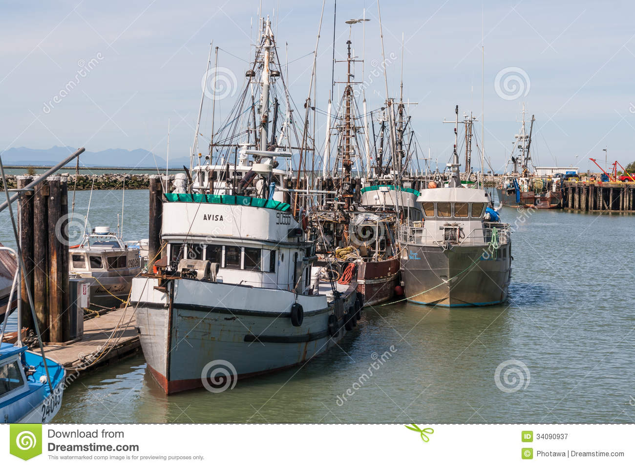 Fishing boats in steveston editorial photography image of for British columbia fishing license