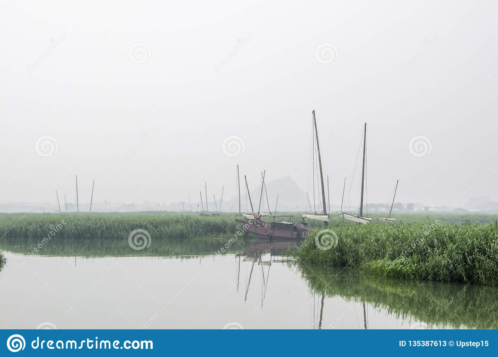 Fishing boats in Taihu Lake