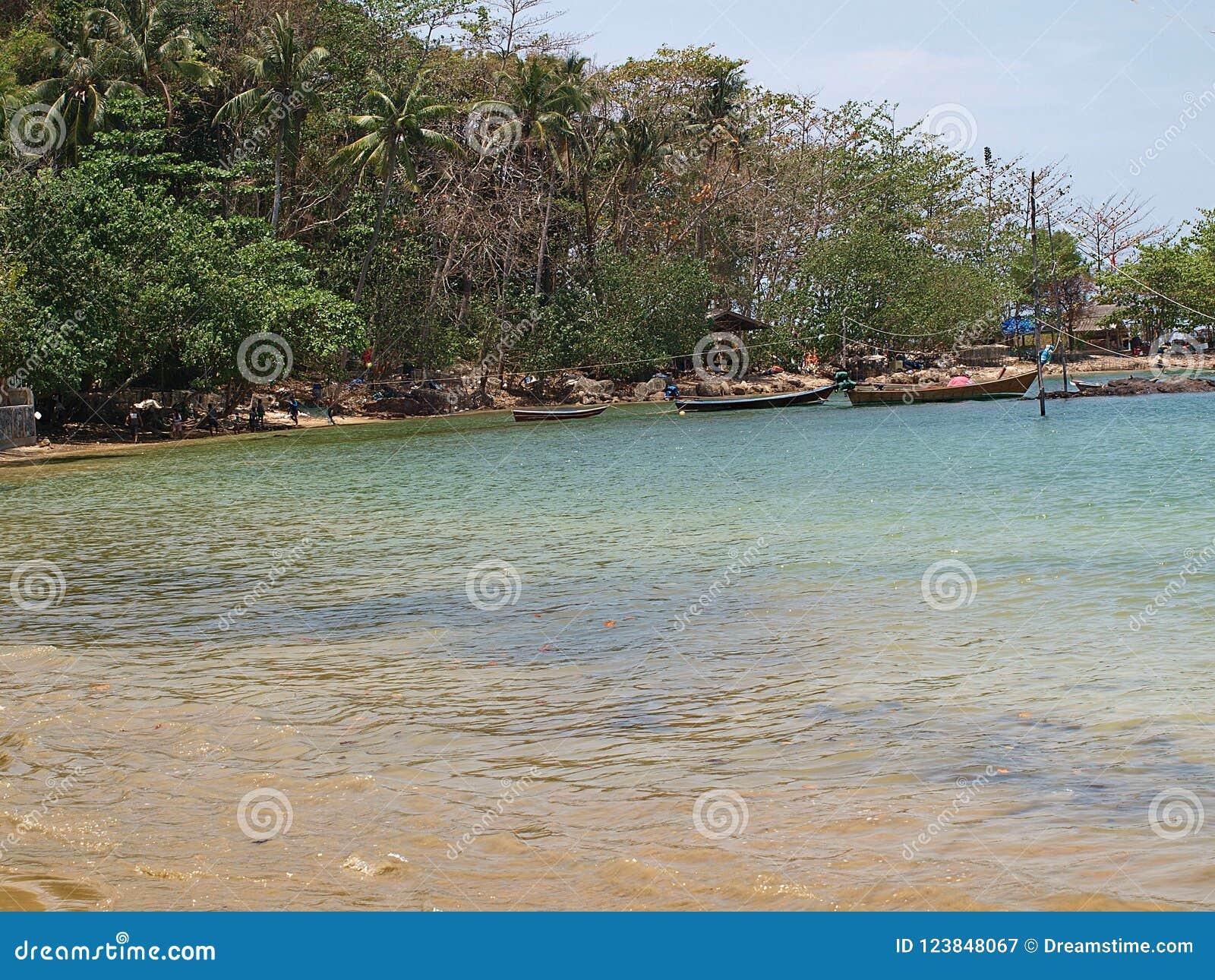 Fishing Boats On The Tropical Island Of Koh Lanta Thailand