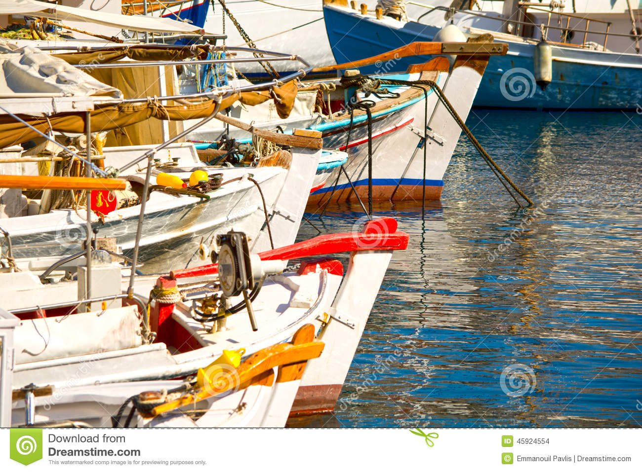 Fishing boats stock photo image 45924554 for Fishing row boats