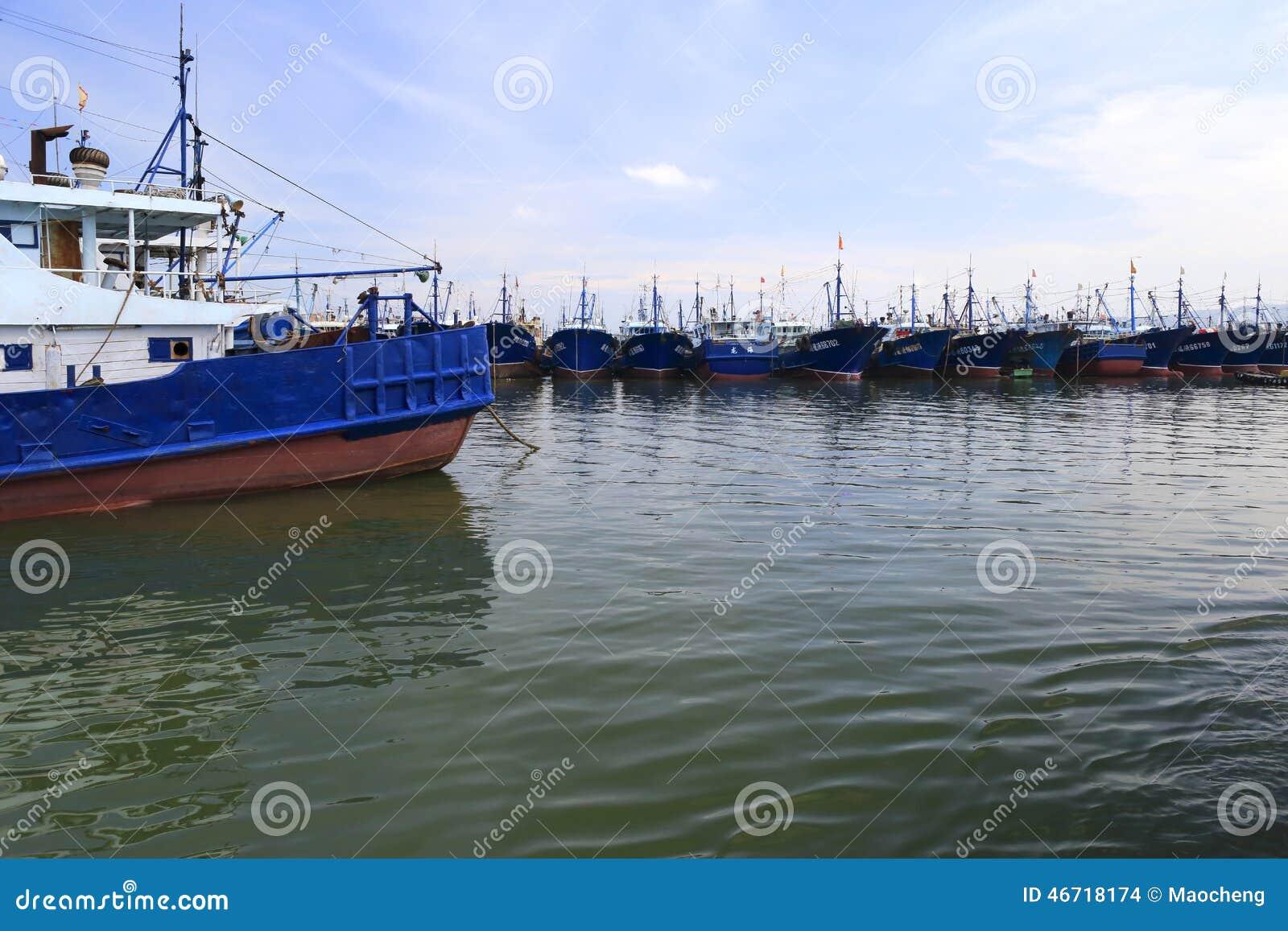 Fishing boats of wuyu island editorial stock image image for City island fishing