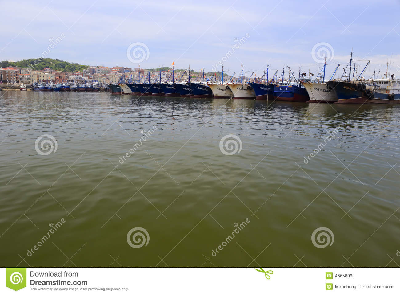 Fishing boats in wuyu pier editorial stock photo image for City island fishing boats
