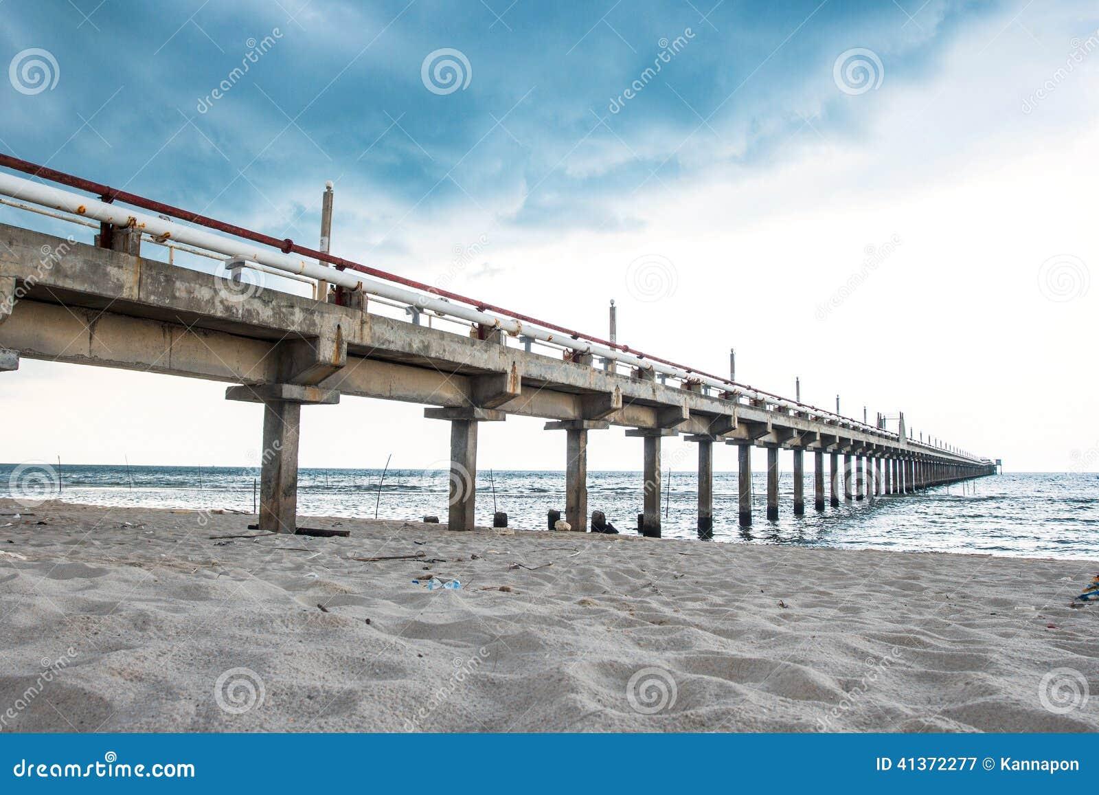Fishing Bridge And Oil Jetty Stock Image - Image of ...