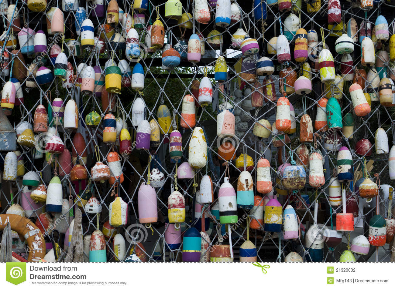Fishing buoys stock photography image 21320032 for Who sells fishing license near me