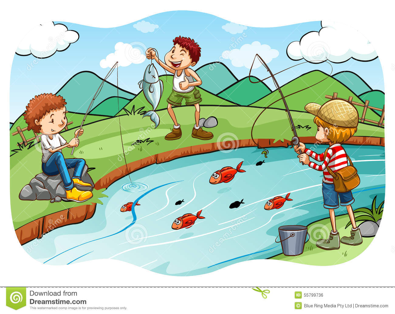 Fishing stock vector image 55799736 for Fish children s book