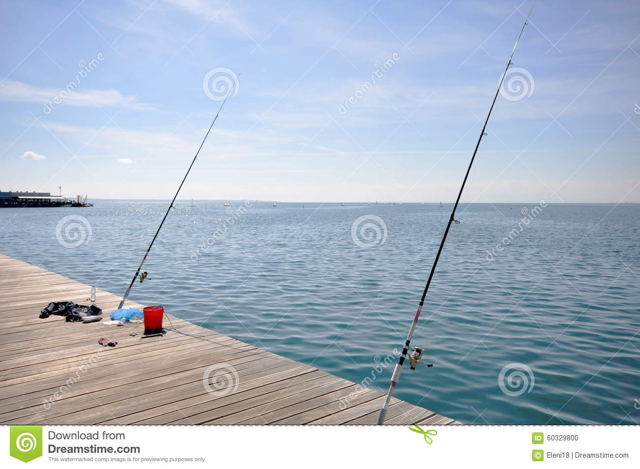 fishing in the city stock photo image 60329800