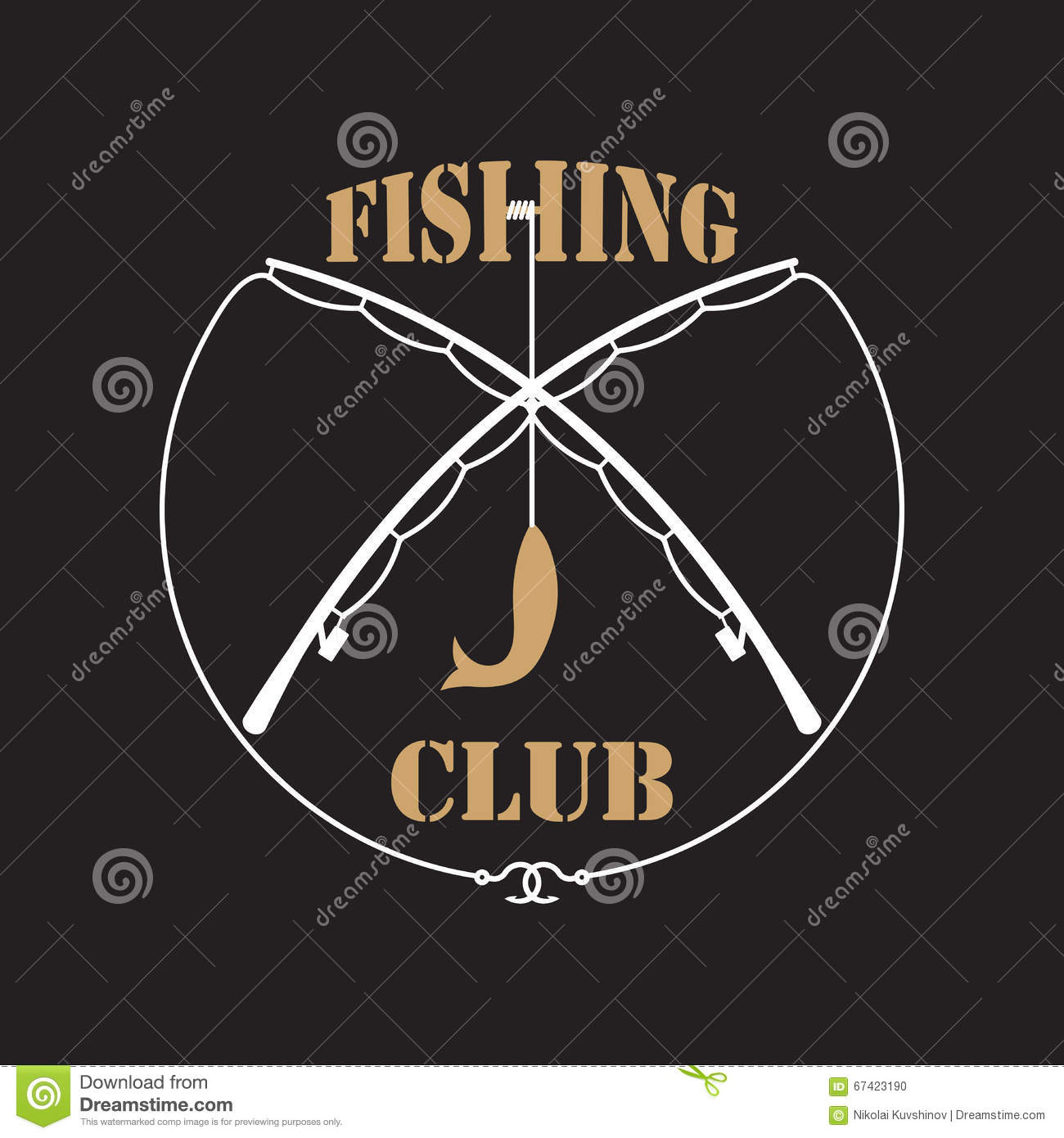 fishing club labels stock vector  image of logo  food