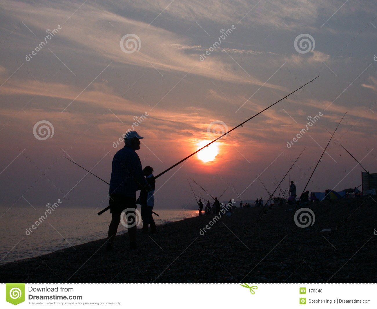 Fishing on the coast