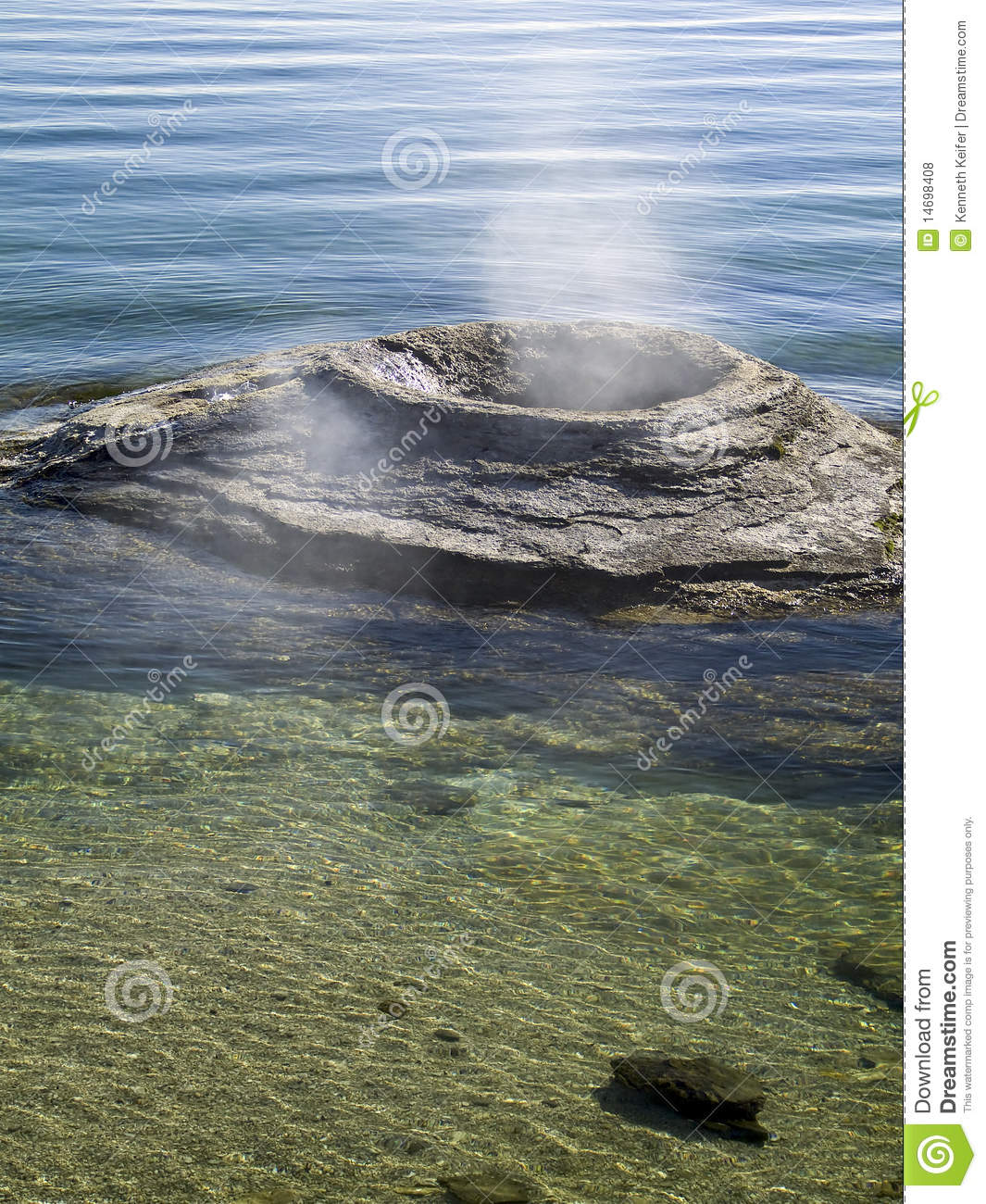 Fishing cone yellowstone national park royalty free stock for Yellowstone lake fishing