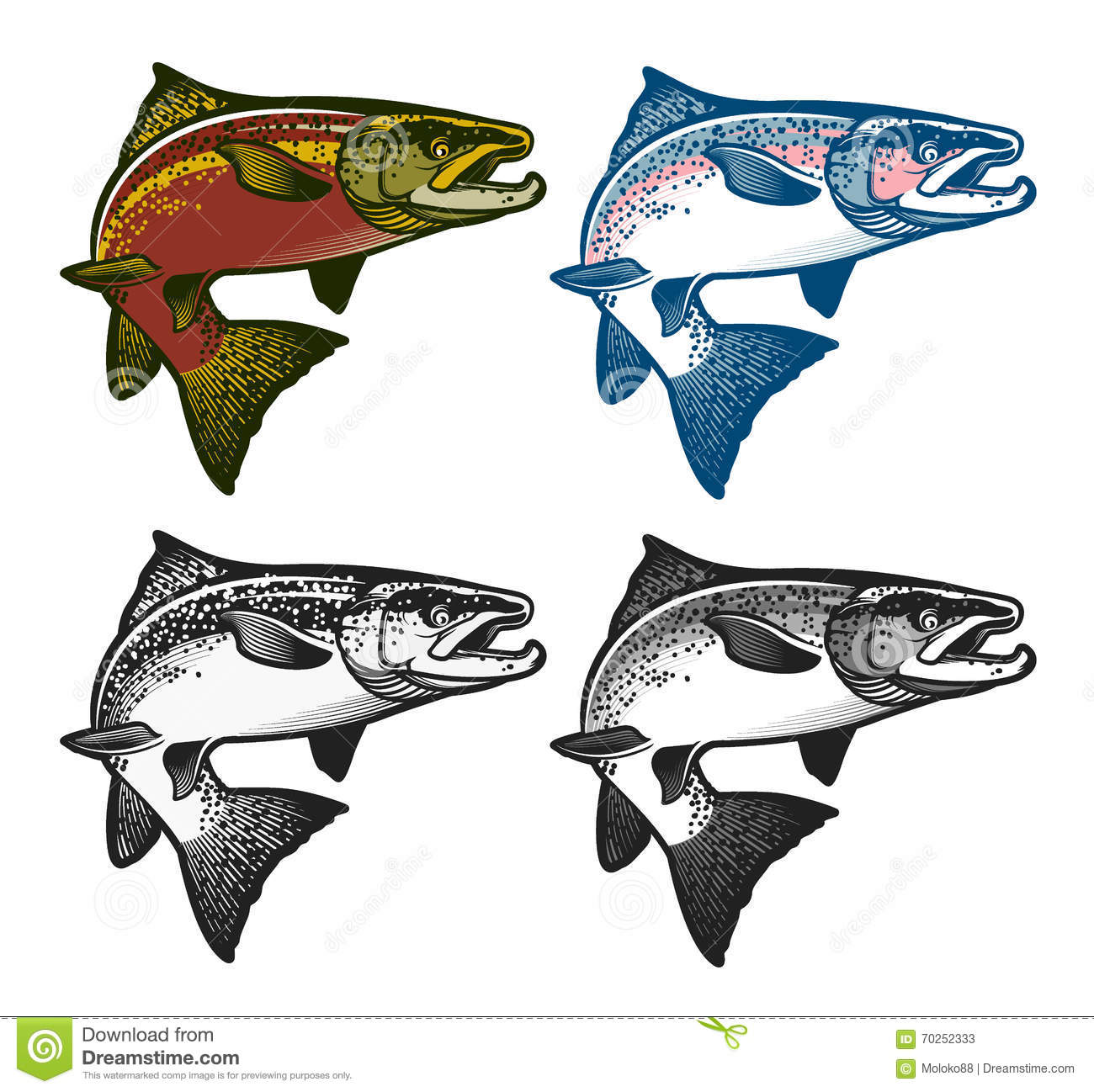 fishing emblems labels and design elements stock vector