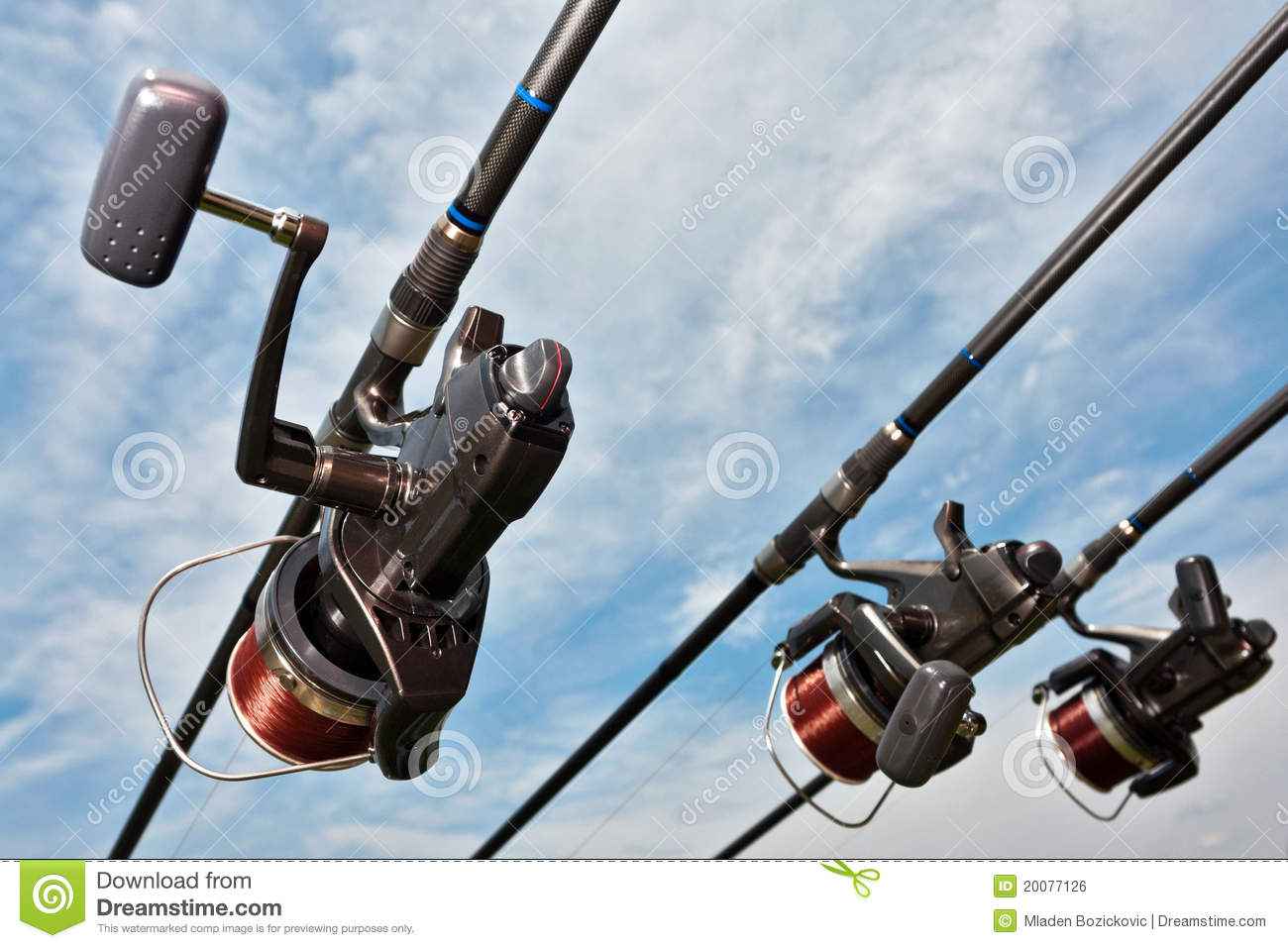 Fishing equipment stock photo image of reels nylon for How to get free fishing gear