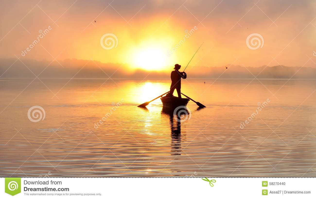 Fishing stock photo image of harmony recreation bark for Fishing times free