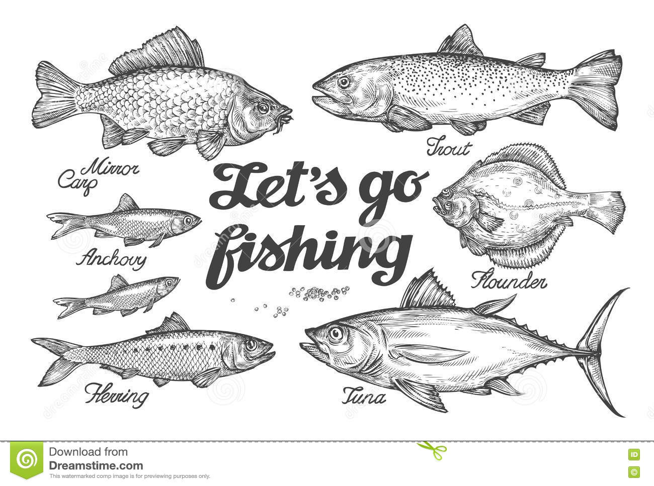 Fish Stock Illustrations – 169,472 Fish Stock Illustrations, Vectors ...