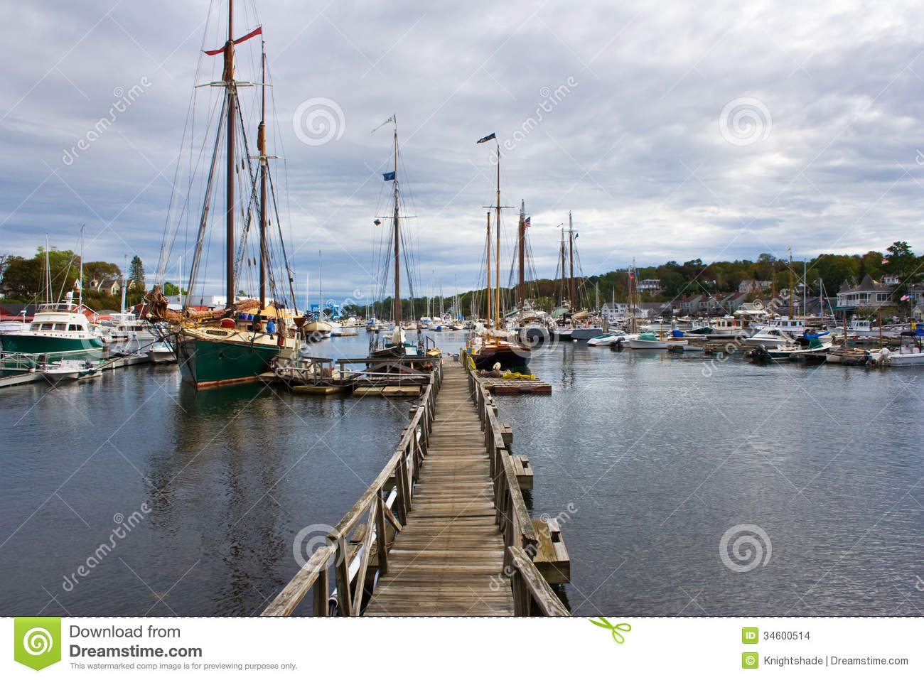 Fishing harbor stock photo image of wharf coast pier for Maine out of state fishing license