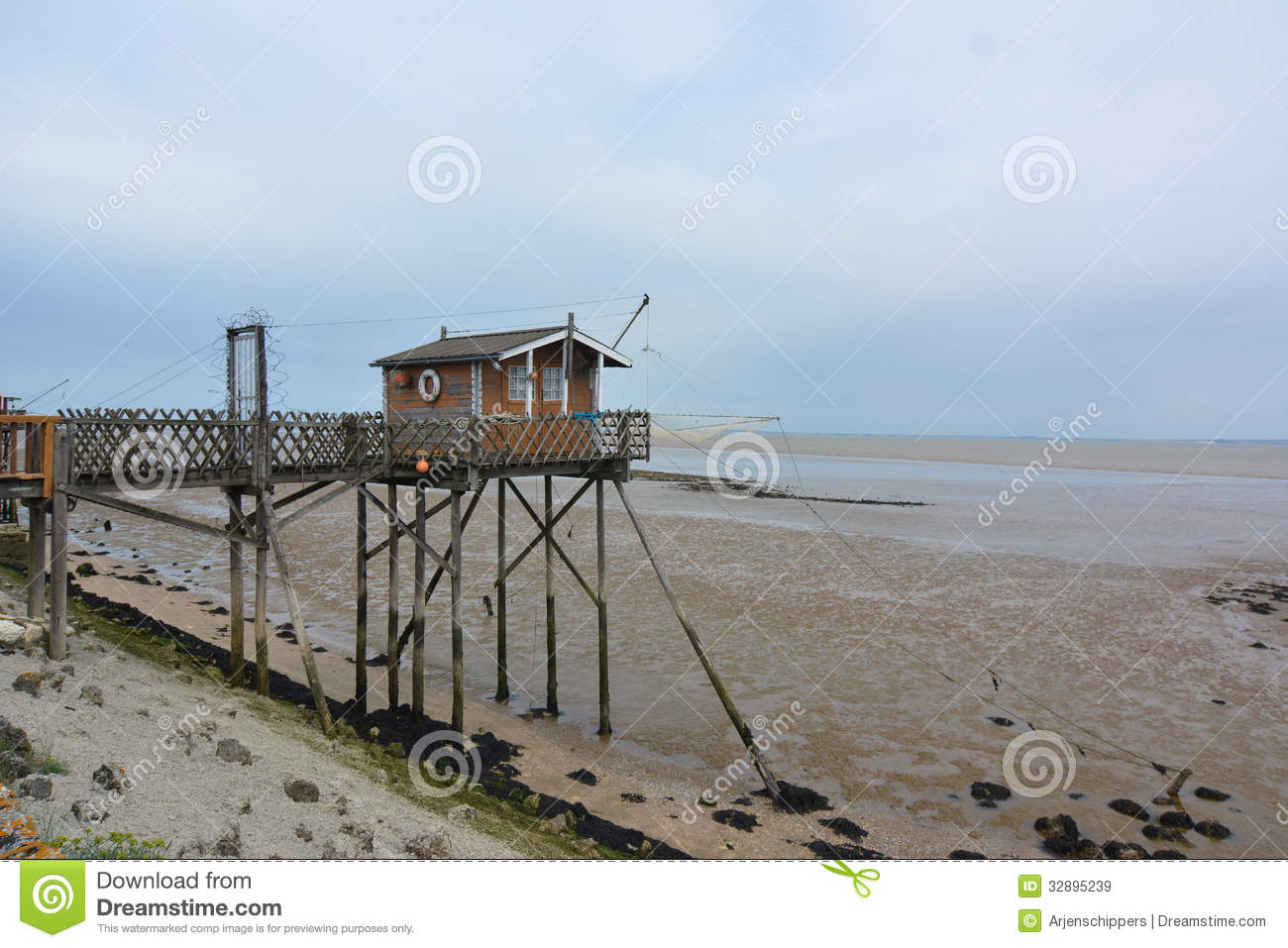 Fishing hut in france royalty free stock images image for Fishing in france