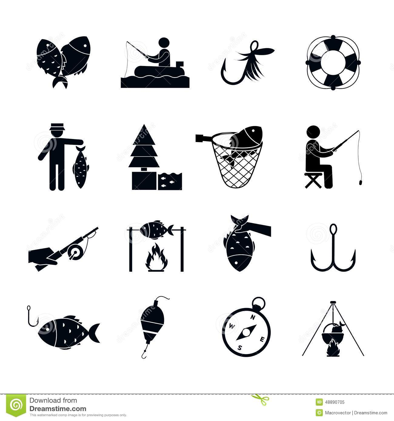 Fishing icon black stock vector image of hobby bobber for Fishing times free