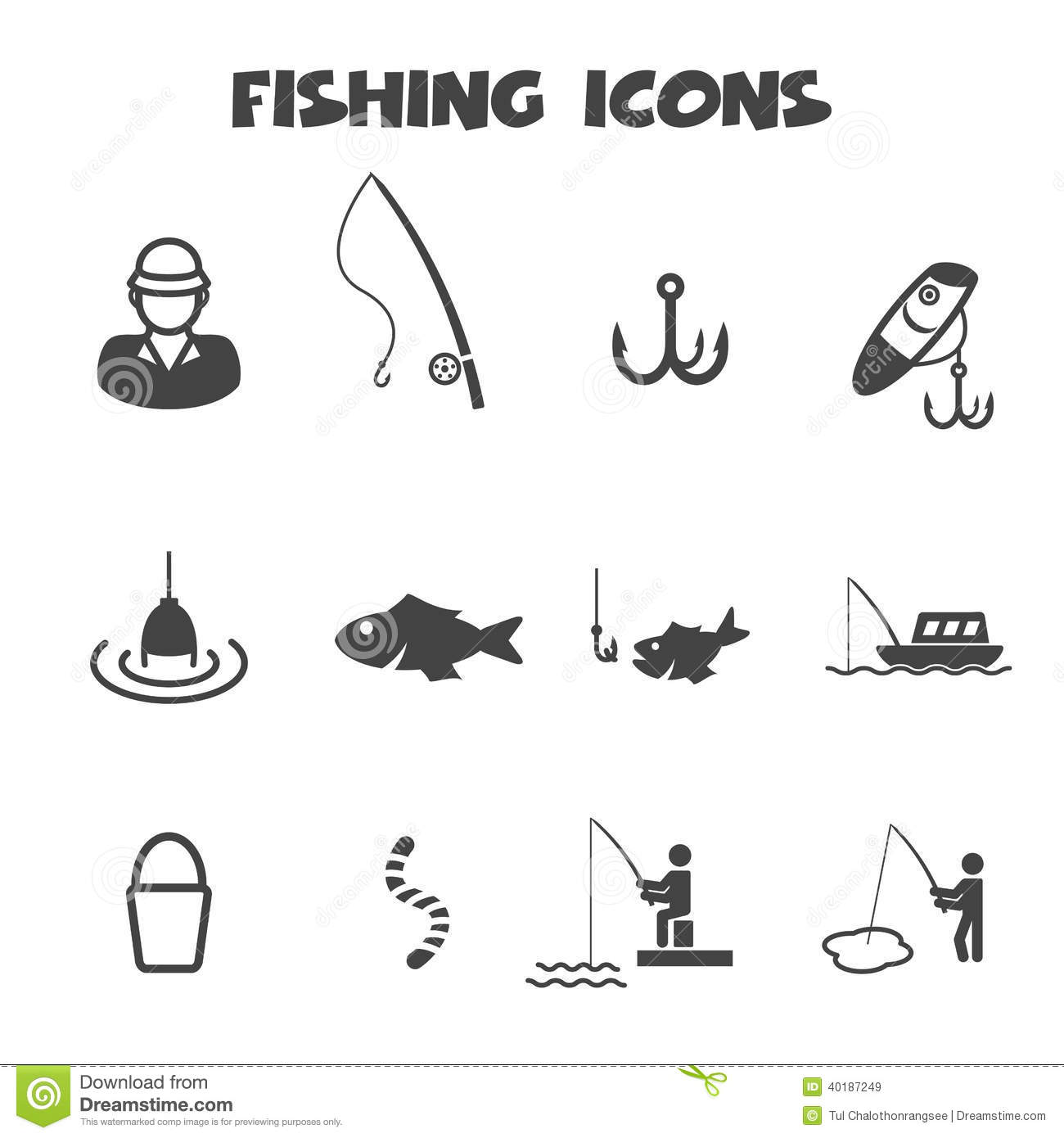 Fishing icons stock vector illustration of hobby lake 40187249 biocorpaavc Image collections