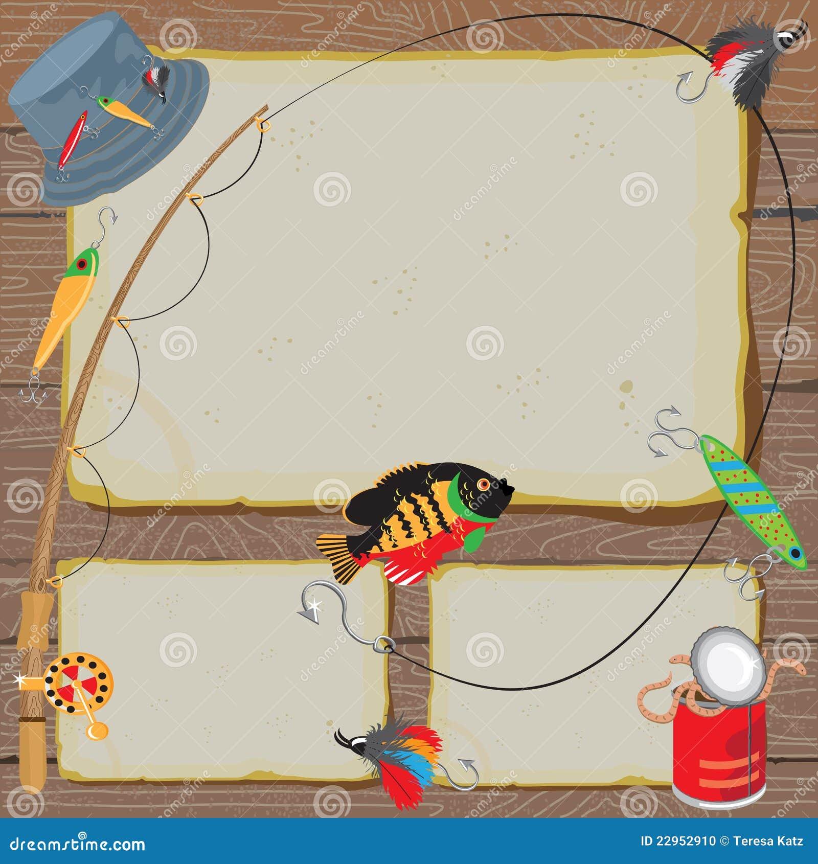 Fishing Invitation Notice Card Stock Photo Image 22952910
