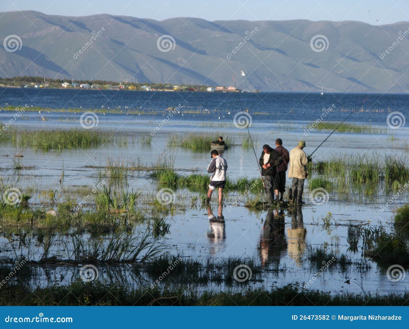 Fishing on Lake Sevan