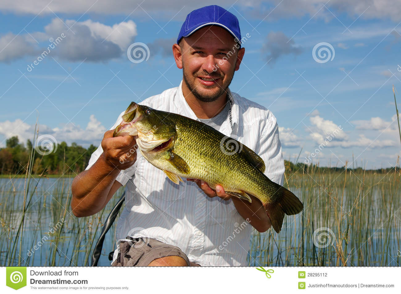 Fishing for largemouth bass stock photography image for Best time for bass fishing