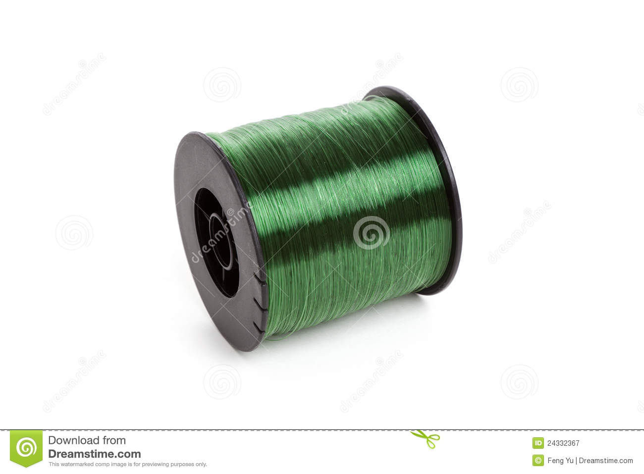 Fishing line roll stock image image of isolated fishing for Free line fishing