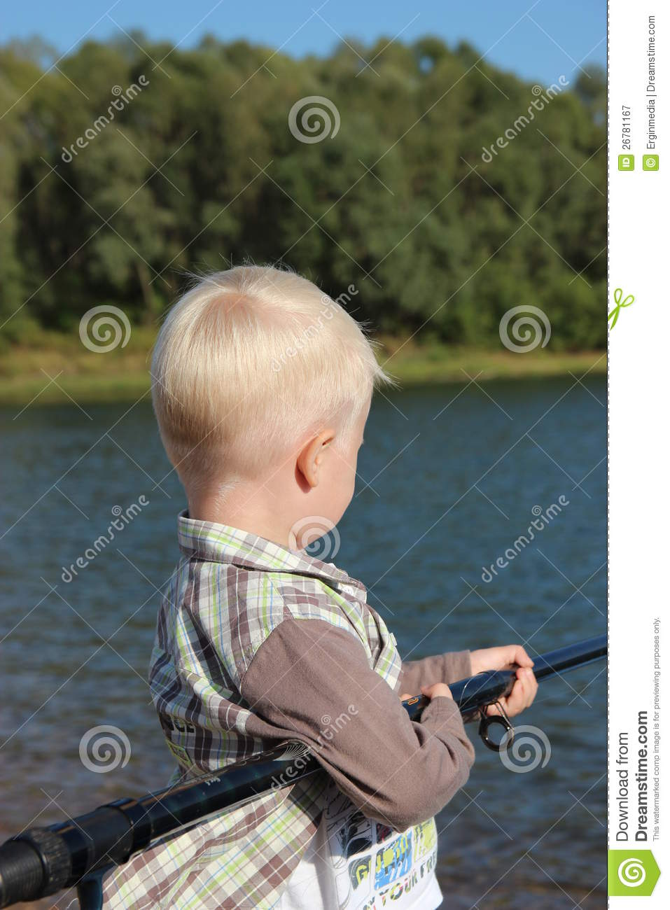 Fishing the little boy royalty free stock photography for Little boy fishing