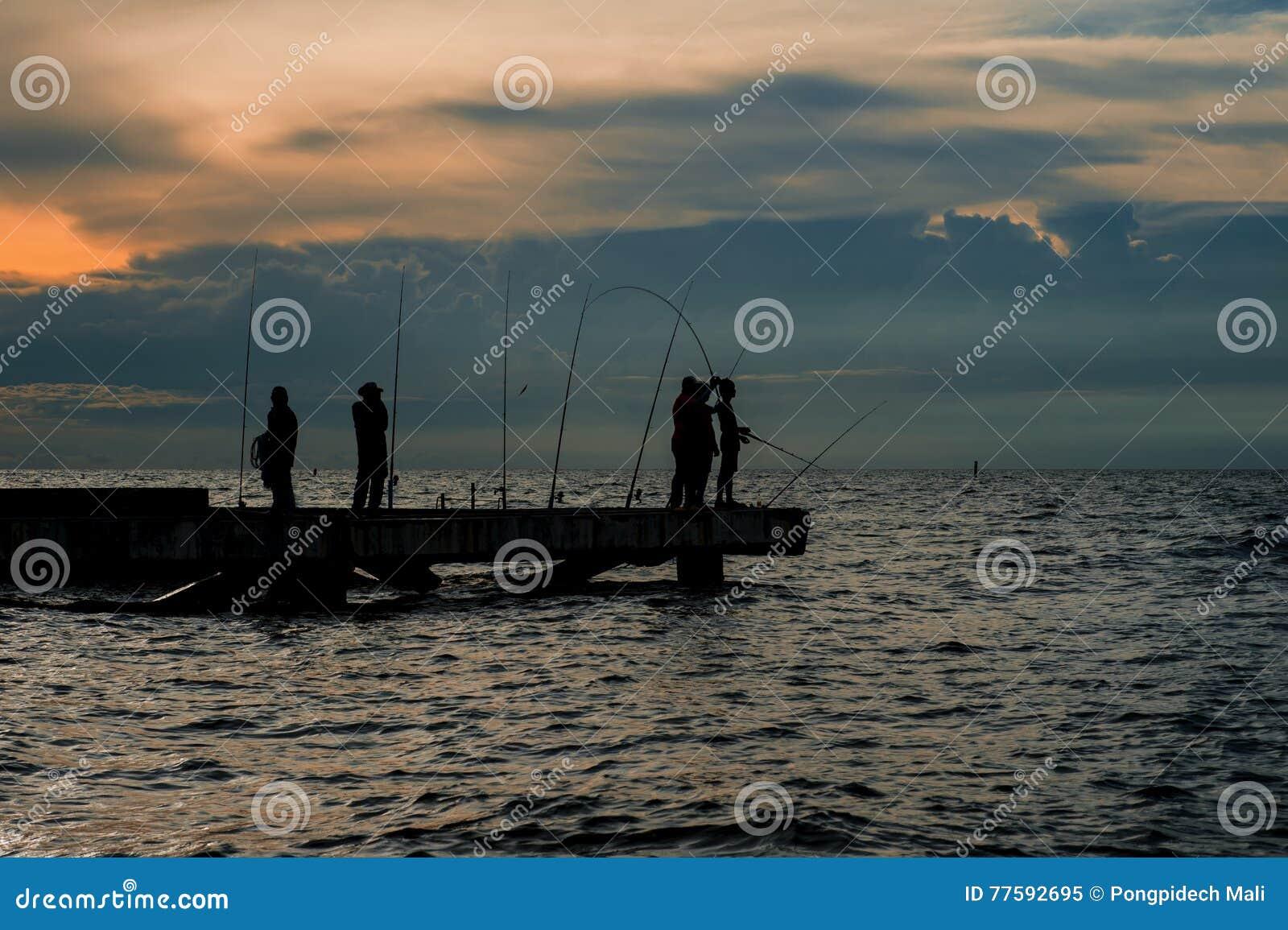 Fishing local on sea in Thai