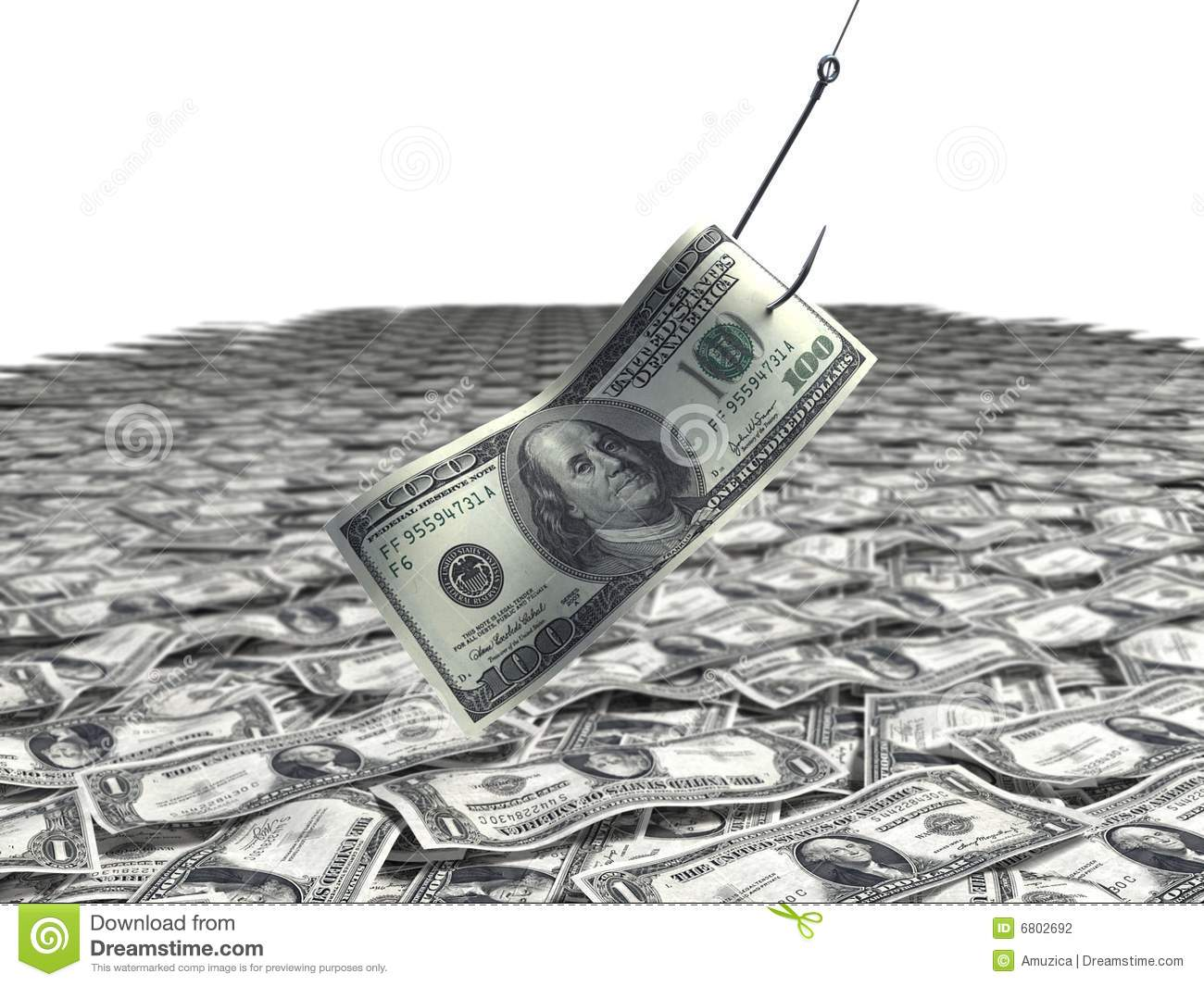 Fishing for money stock photography image 6802692 for Fish for cash