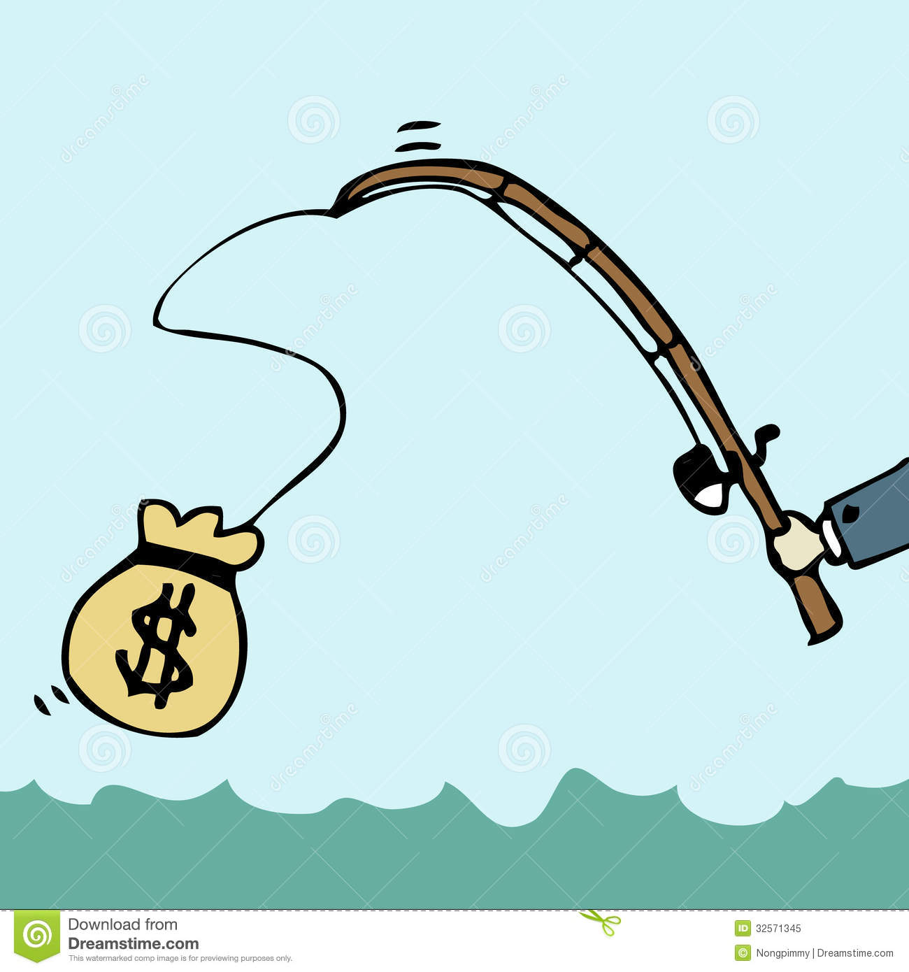 Fishing money royalty free stock photo image 32571345 for Fish for cash