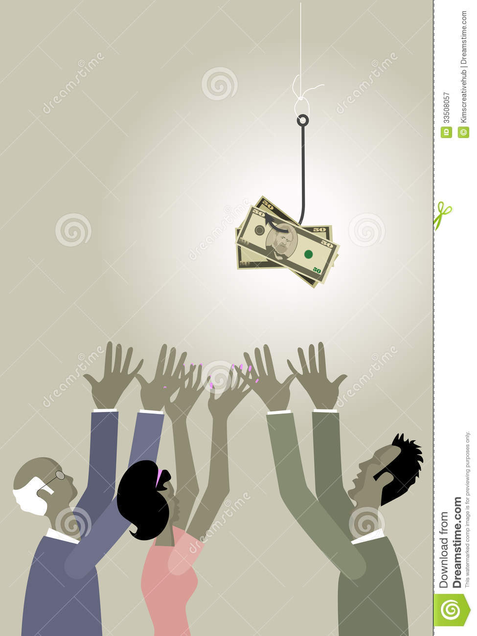 Fishing for money royalty free stock photography image for Fish for cash