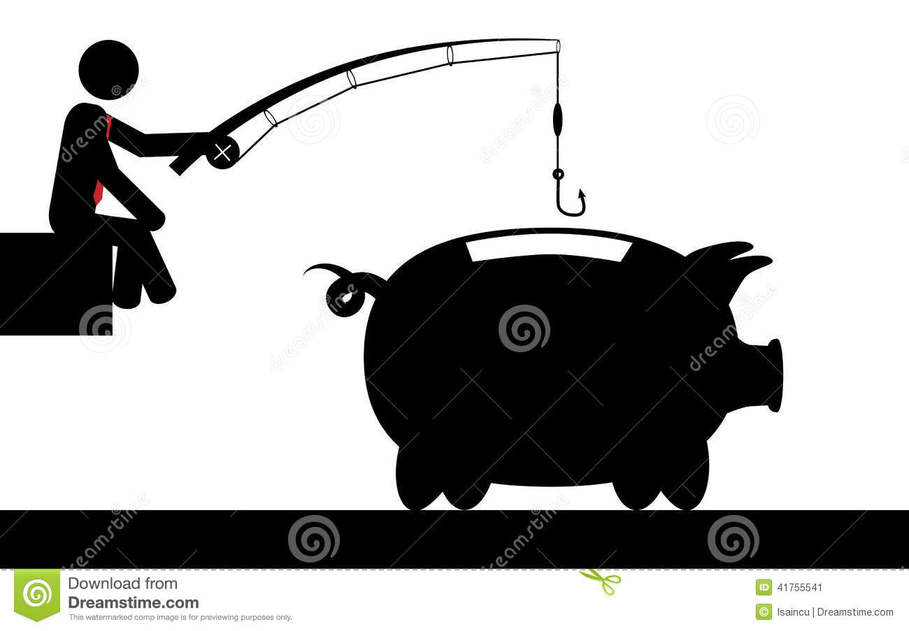 Fishing for money stock vector image 41755541 for Fish for cash