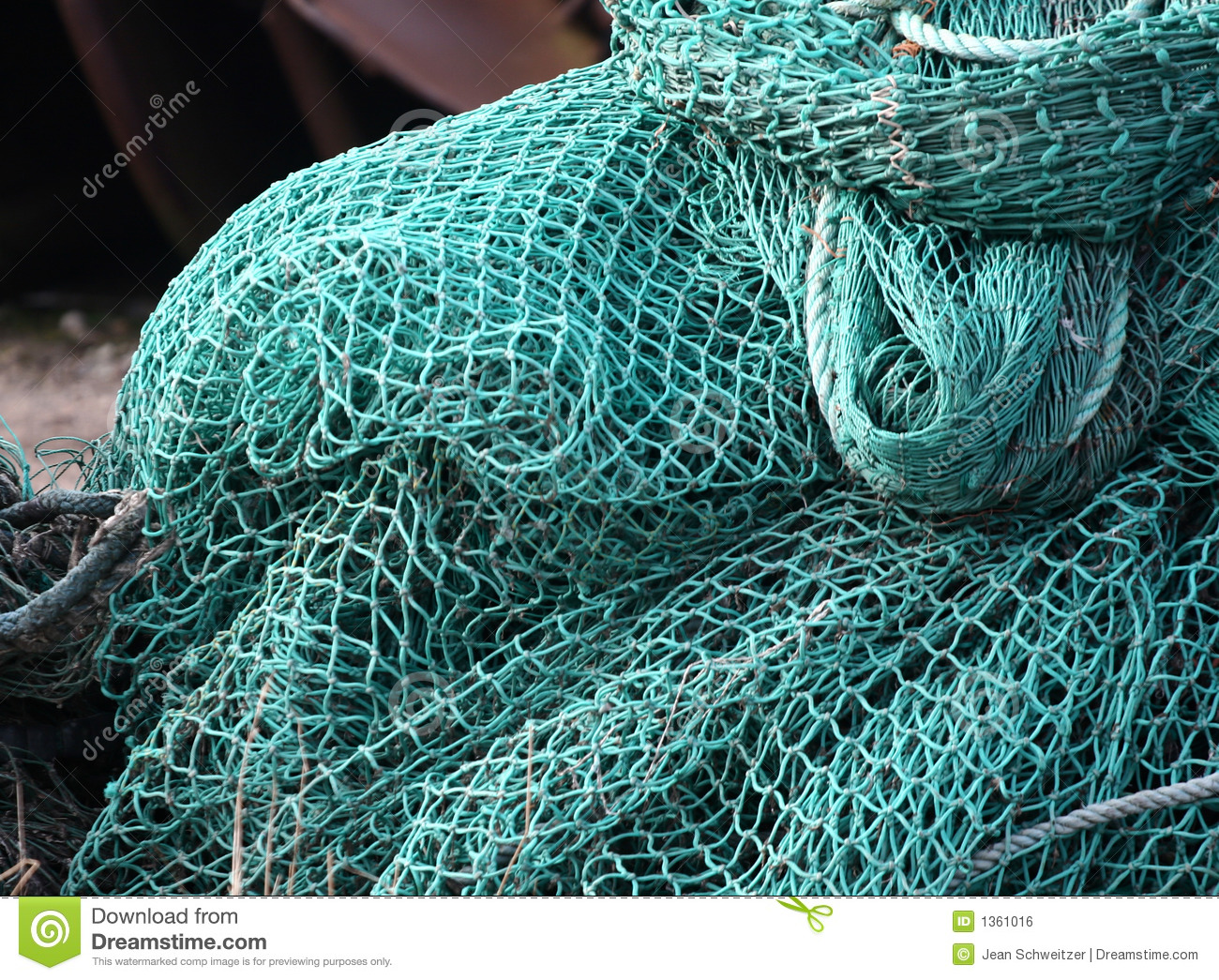 Fishing net on a boat stock photo image of sport denmark for Fish catching net