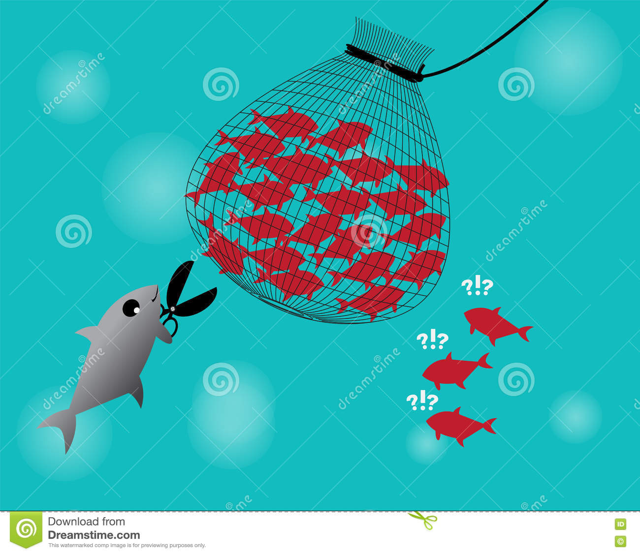Fishing net catch the fish stock vector image 82503346 for Fish catching net