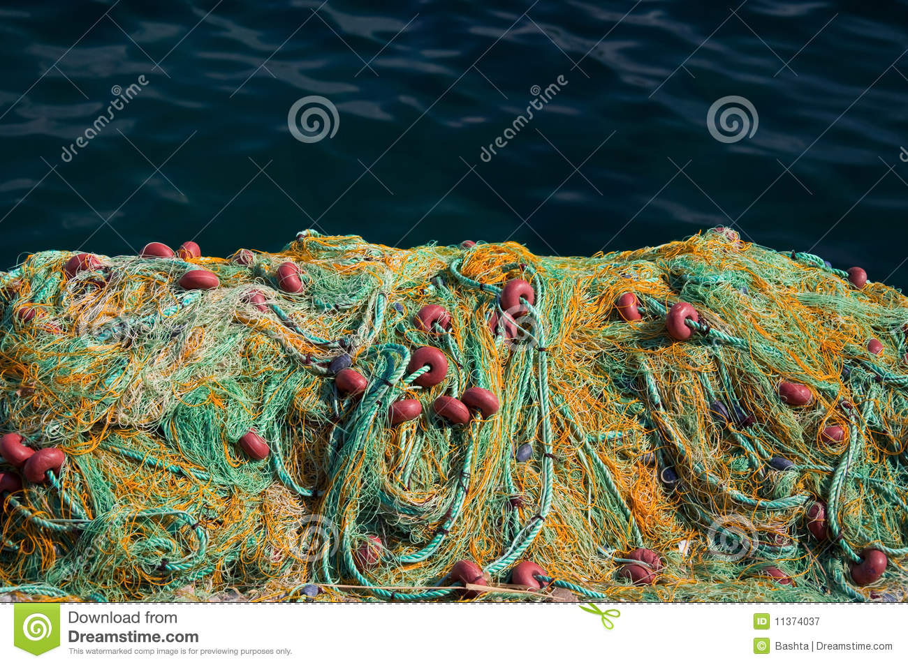 Fishing net with floats royalty free stock photography for Fishing net floats