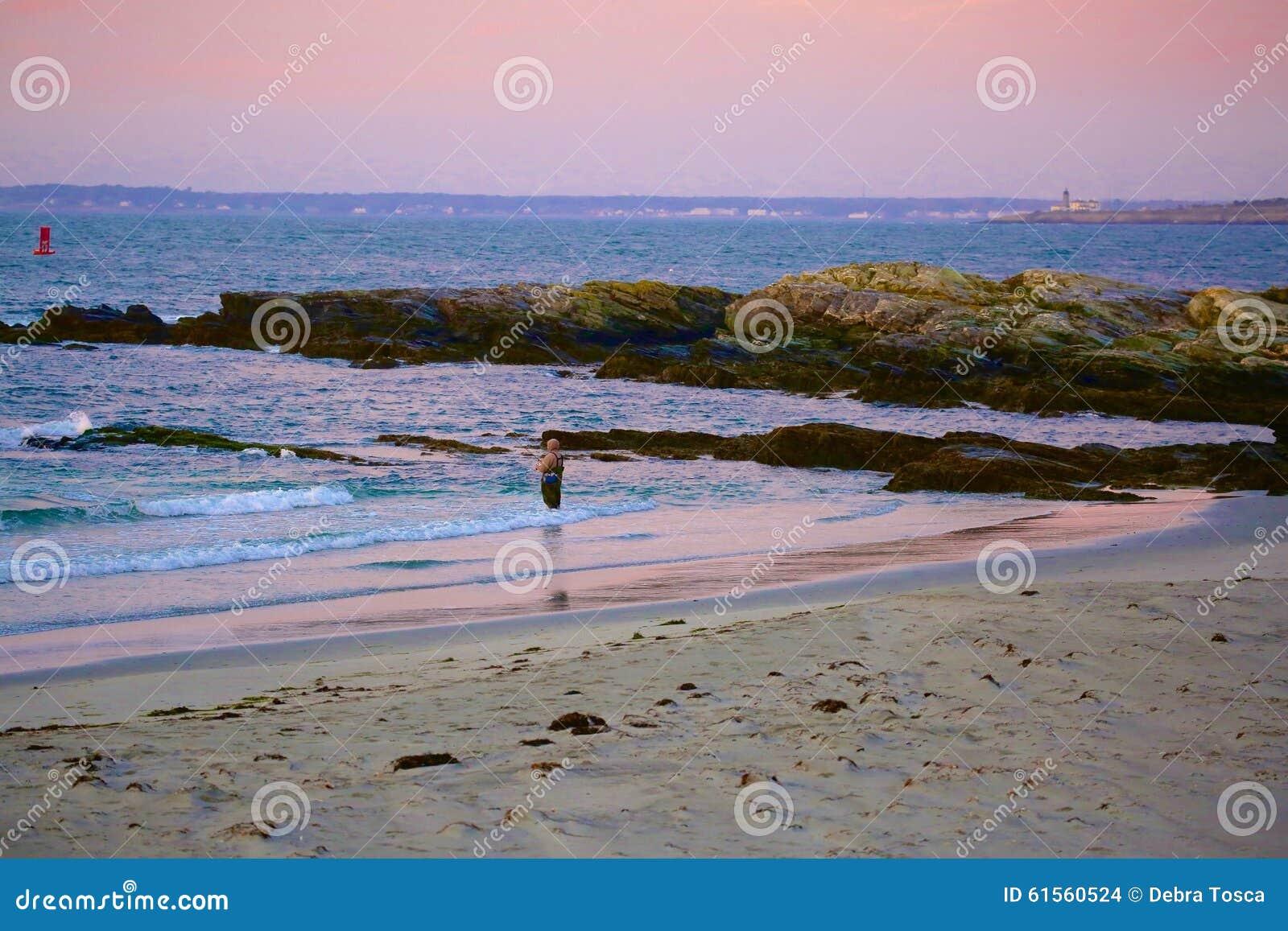 Fishing newport rhode island sunrise editorial stock image for Fishing newport ri