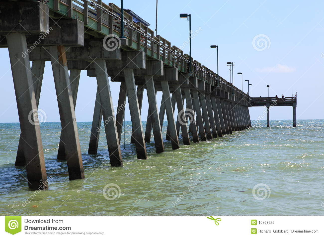 Fishing pier royalty free stock image image 10708926 for Fishing off a pier
