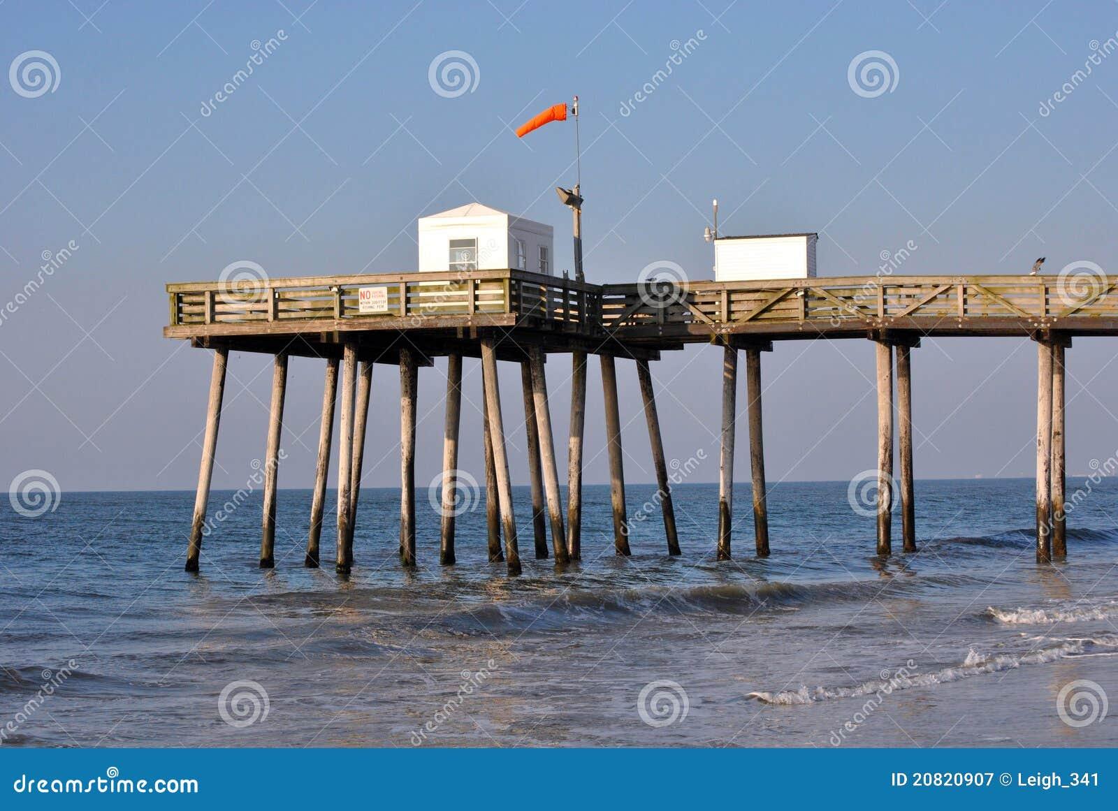 Fishing pier stock image image of fishing sandy sand for Surf fishing nj license