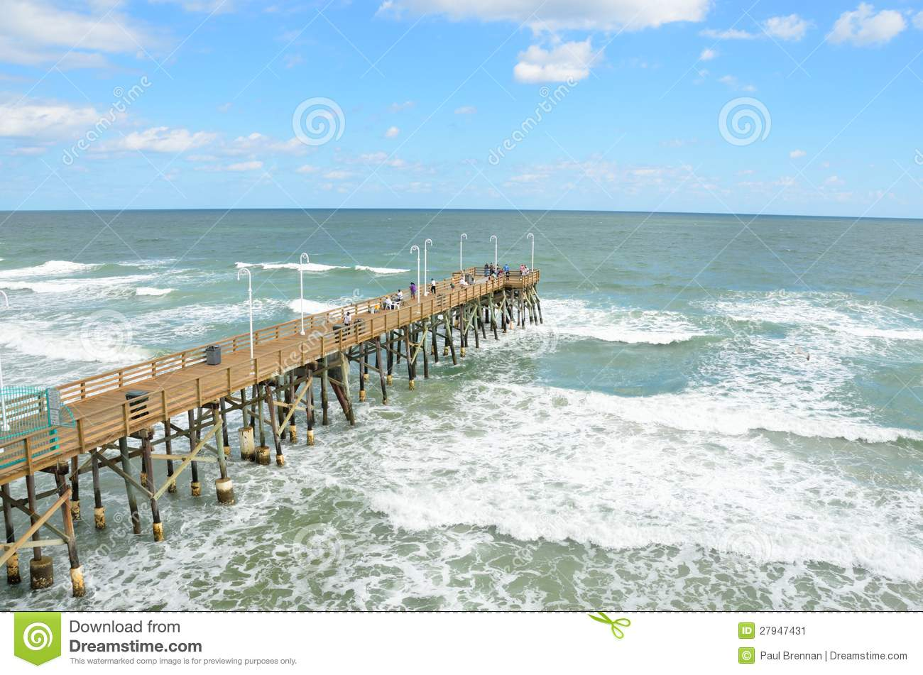 Fishing pier stock image image 27947431 for Ormond beach fishing