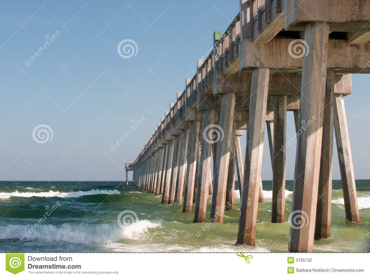 Fishing pier stock photography image 3765732 for Fishing piers in florida
