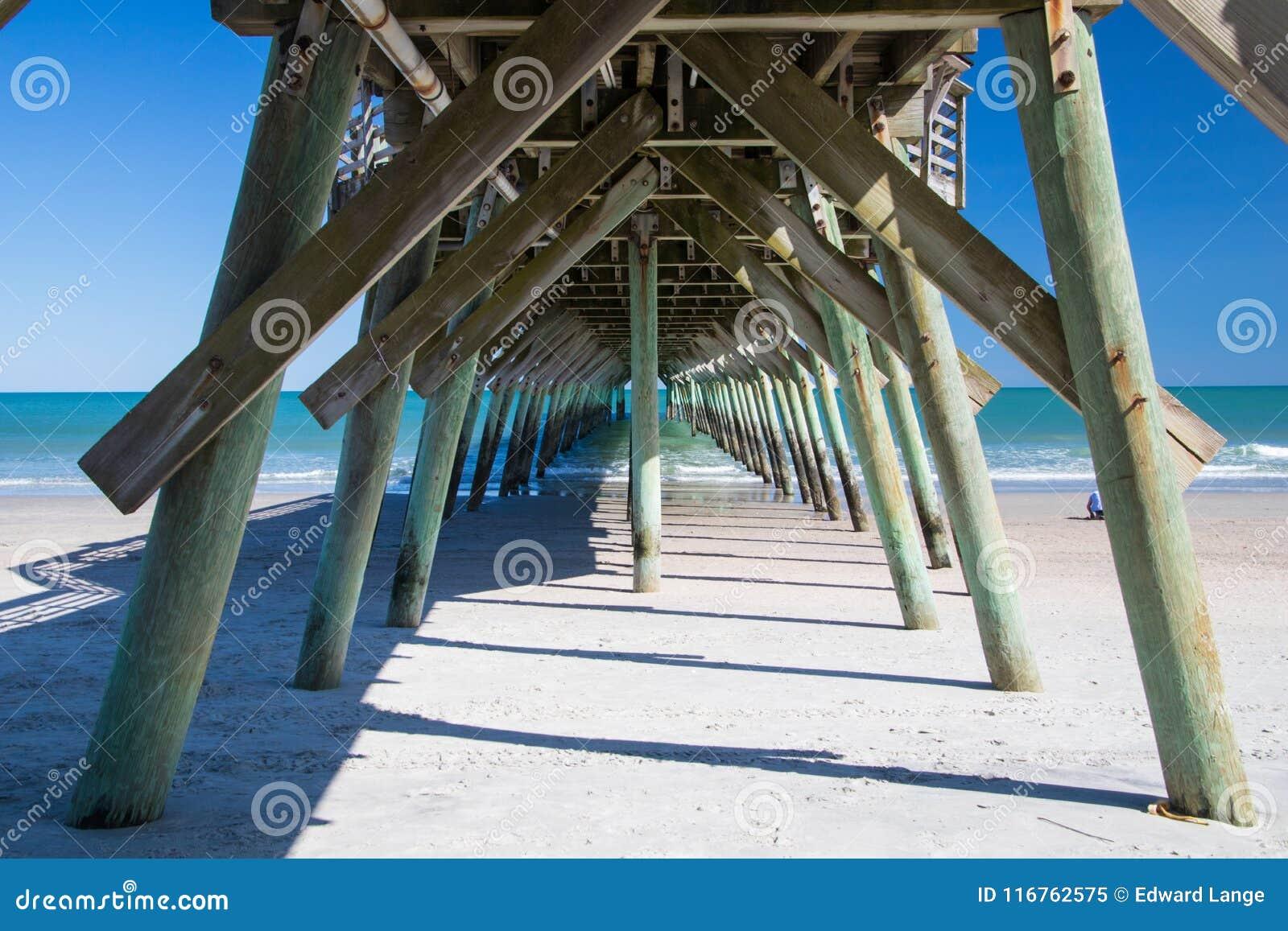 Myrtle Beach, South Carolina State Park Fishing Pier Stock ...