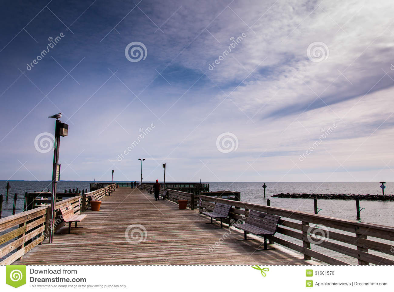 The fishing pier at chesapeake beach along the chesapeake for Maryland fishing piers