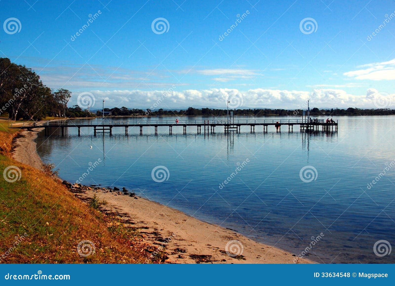 Fishing Pier, Eagle Point, Small Town In Victoria, Australia Stock