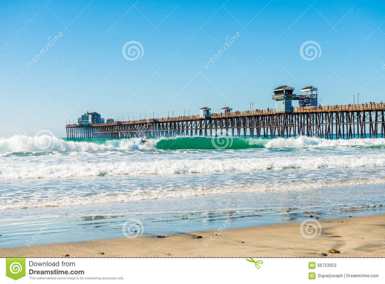 The fishing pier in imperial beach editorial stock photo for Fishing license san diego