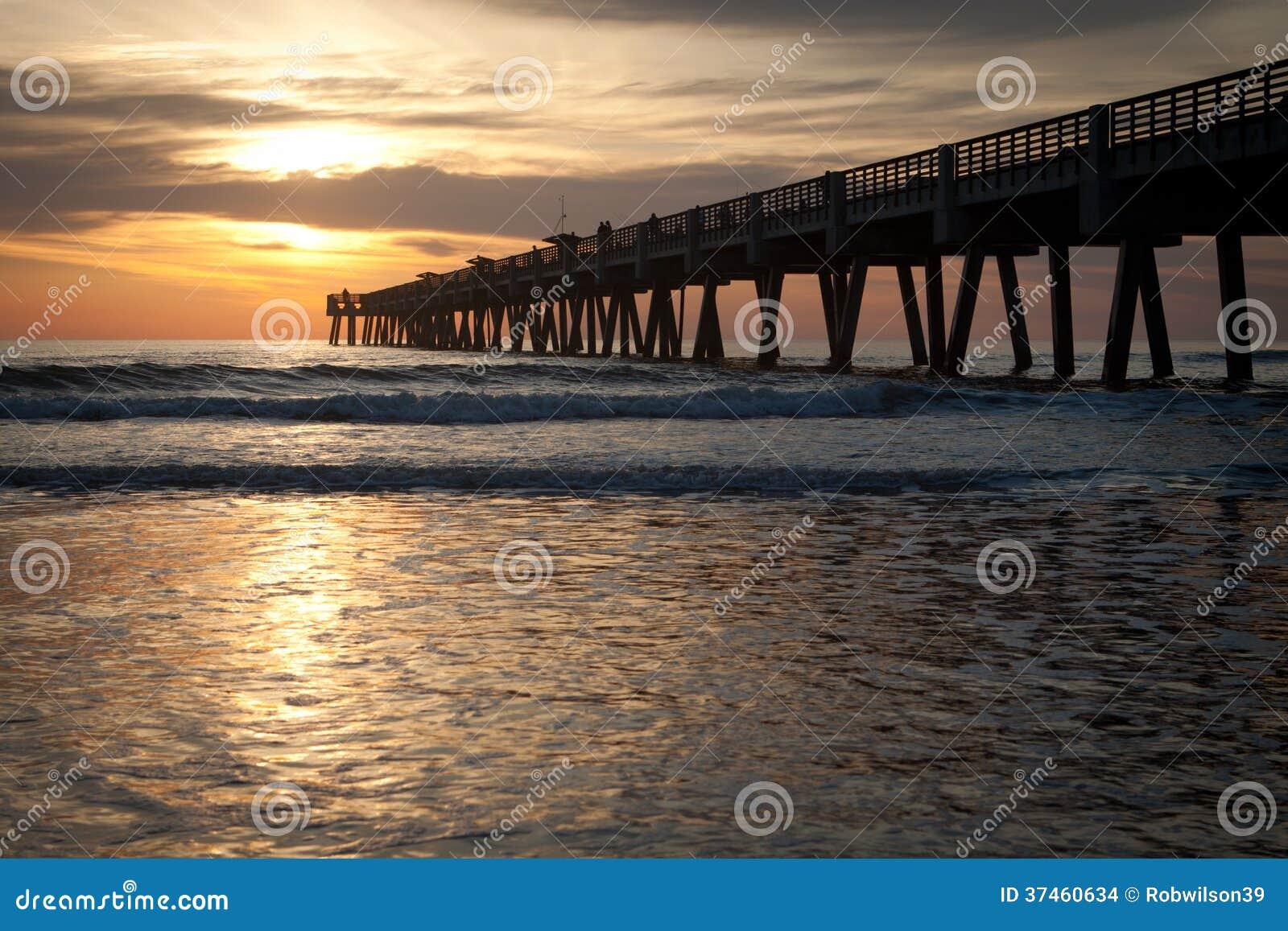 Fishing pier stock images image 37460634 for Jacksonville fishing pier